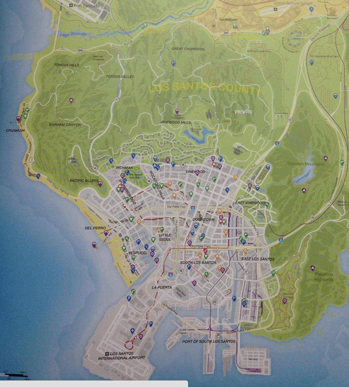 Gallery For > Los Santos And Blaine County Map San Andreas Los Santos Map