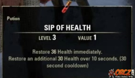 Eso Sip Of Health Crafting