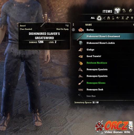 ESO Morrowind: Dishonored Slaver's Greatsword