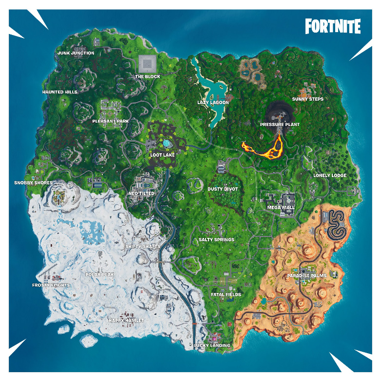 Gratifying image within printable fortnite map