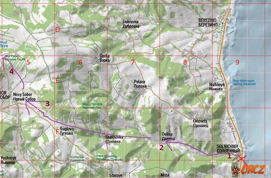 Карта Dayz Черноруссии