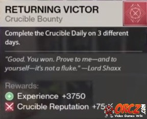 how to get weekly shaxx bounties