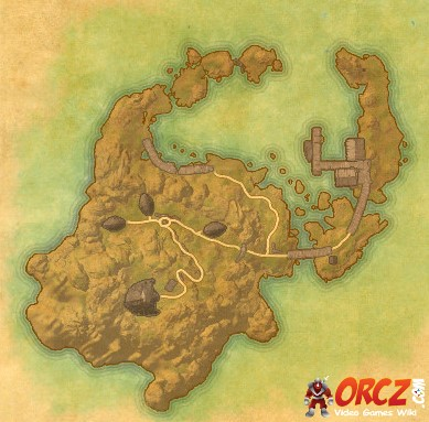 Map of Firemoth Island from the new ESO Morrowind Tutorial