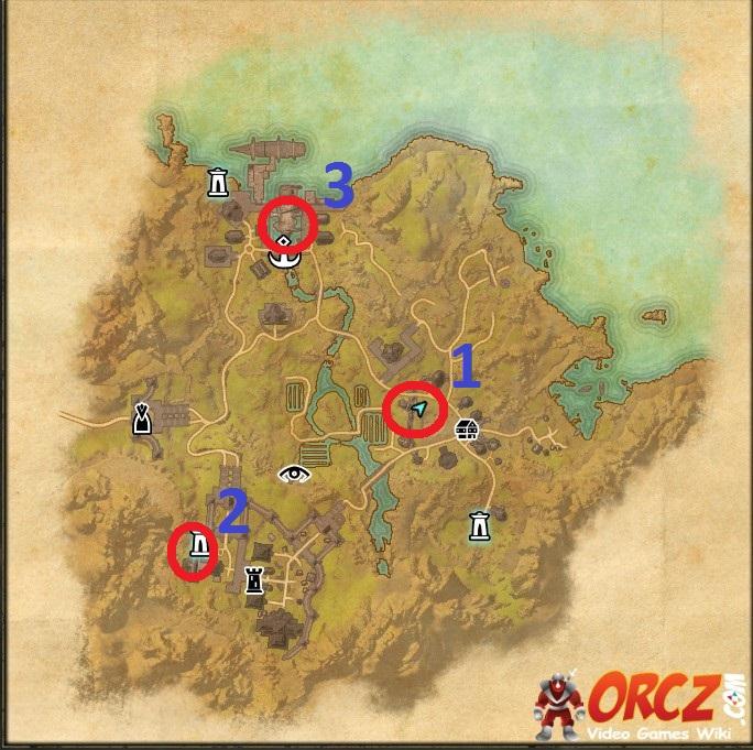 Eso  All Bal Foyen Skyshards Map
