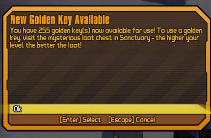 gold key codes