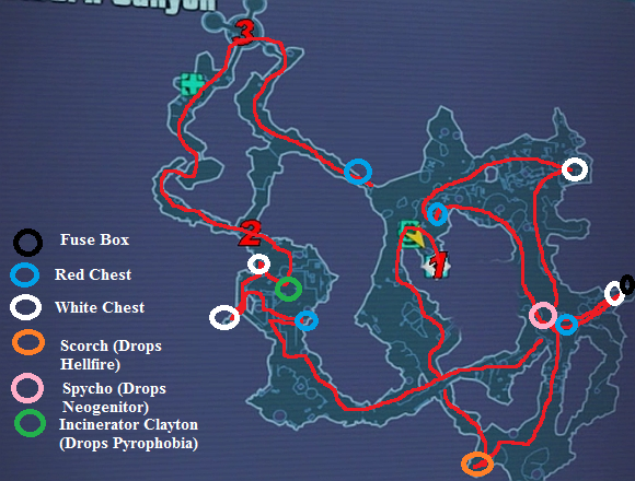 Frostburncanyonmap borderlands 2 farming routes orcz com, the video games wiki borderlands 2 fuse box locations at alyssarenee.co