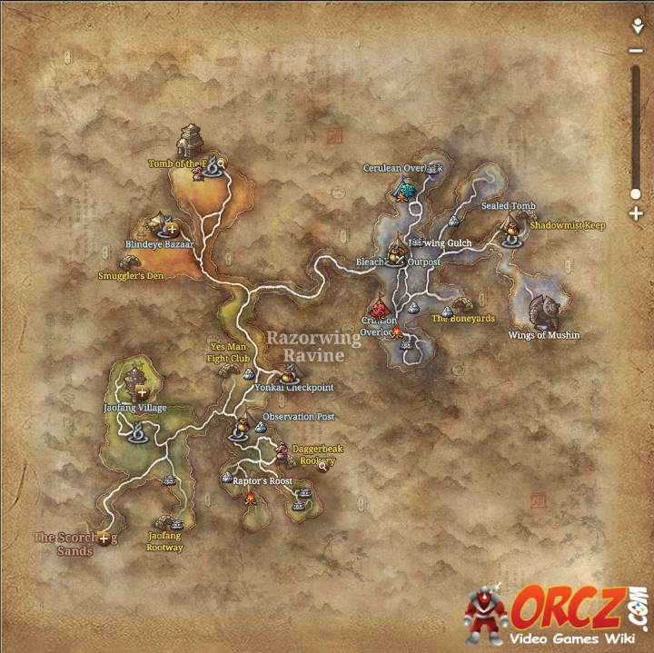 Blade and Soul: Razorwing Ravine - Map - Orcz.com, The Video Games Wiki
