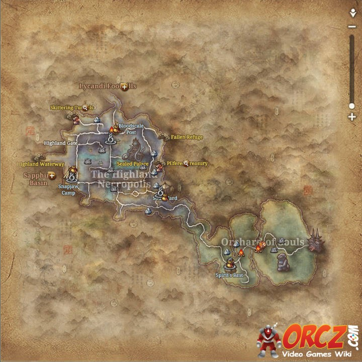 Blade and Soul: The Highland Necropolis - Map - Orcz.com ...