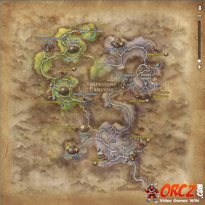Blade and Soul: Spirestone Canyons - Map - Orcz.com, The Video Games ...