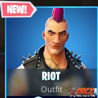 the riot outfit punk skin in fortnite br you can buy it from the cash store for 1 200 vbucks - riot skin fortnite