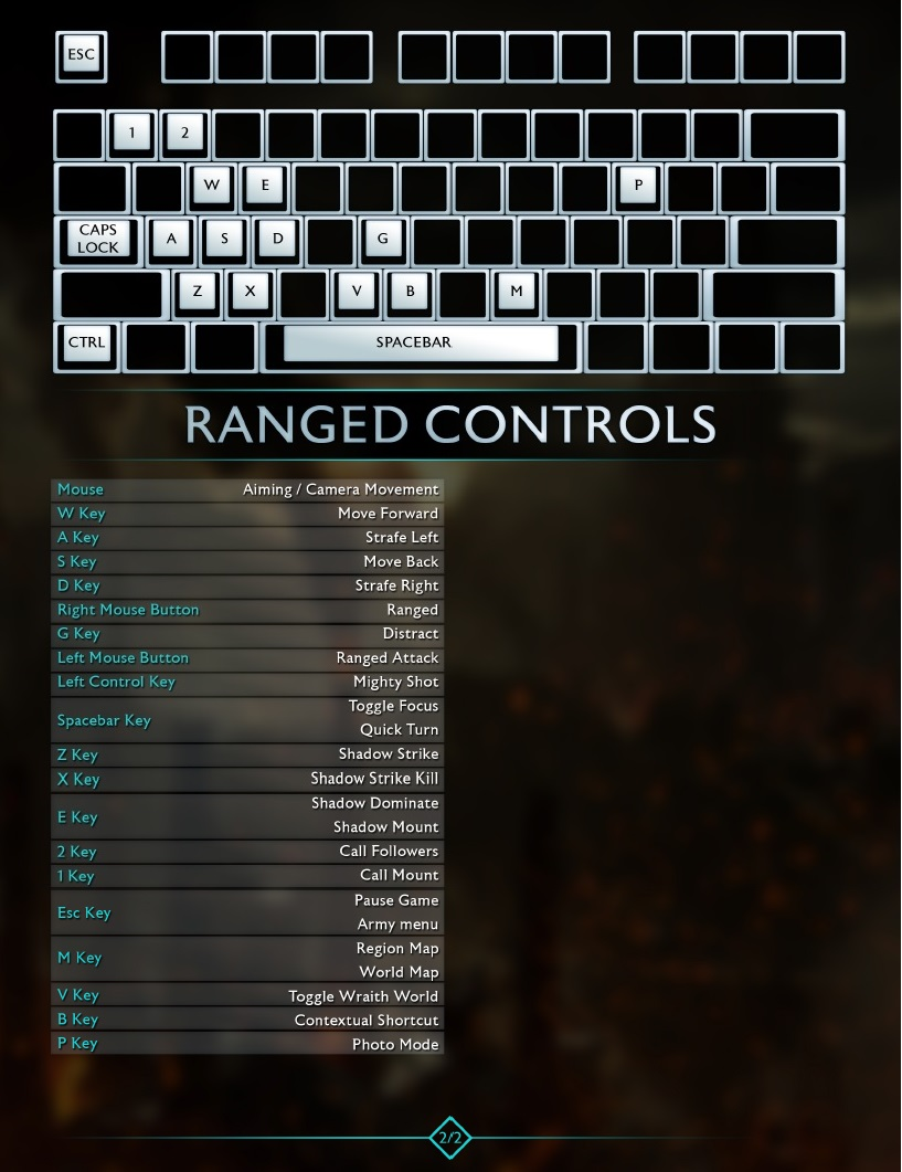 Shadow Of Mordor Keyboard Controls Orcz Com The Video