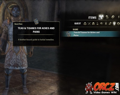 ESO Morrowind: Teas and Tisanes for Aches and Pains - Orcz