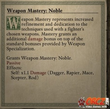Weapon Mastery Noble