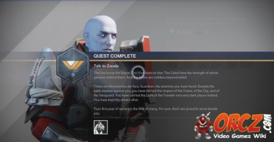 Destiny Talk To Zavala Veteran S Tour Orcz Com The
