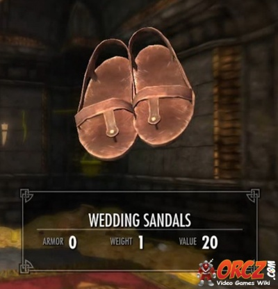 SkyrimWedding Games Wiki SandalsThe SandalsThe SkyrimWedding Video eW9DYEH2I