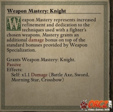 Weapon Mastery Knight