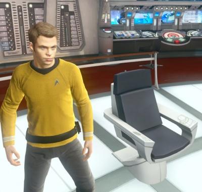 Star Trek Video Game USS Enterprise Captains Chair Orcz – Star Trek Captain Chair