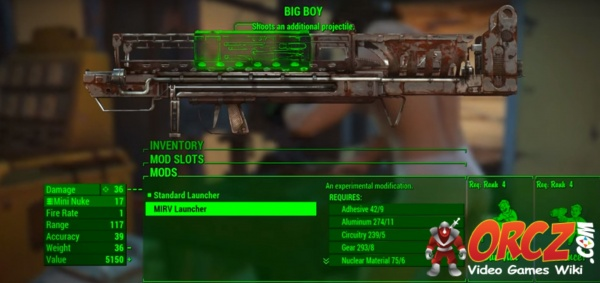 nuclear material fallout 4 id