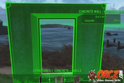 Fallout 4: Concrete Wall - Doorway - Orcz com, The Video Games Wiki
