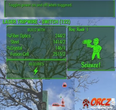 Fallout 4: Laser Tripwire - Switch - Orcz.com, The Video Games Wiki