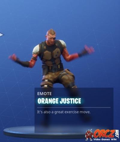 Fortnite Battle Royale Orange Justice Orcz Com The Video Games Wiki