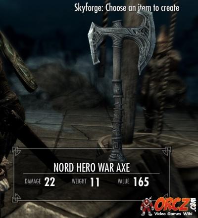 Skyrim nord hero war axe orcz com the video games wiki