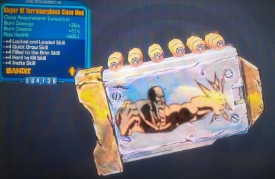 Borderlands 2: Slayer of Terramorphous Gunzerker Class Mod