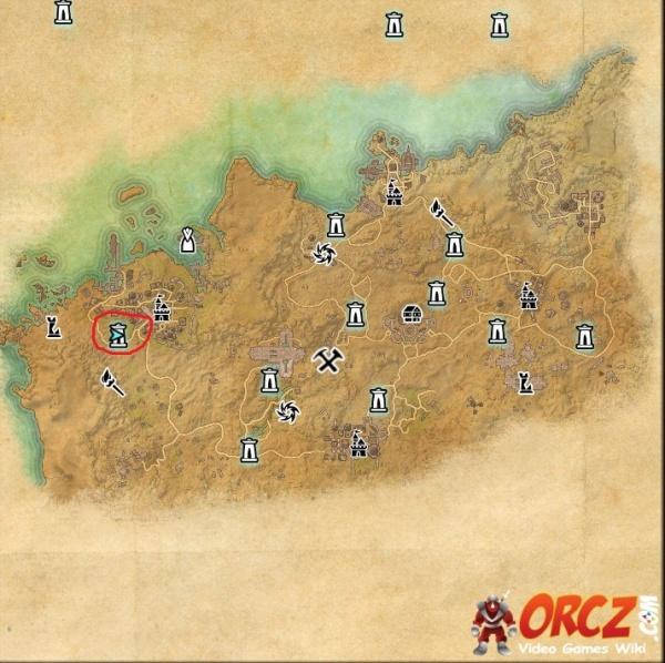 ESO: Sentinel Wayshrine - Map - Orcz.com, The Video Games Wiki