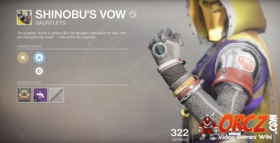 Shinobu's Vow in Destiny 2: Wiki.