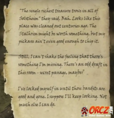 Skyrim Dragonborn: Torn Note - Orcz com, The Video Games Wiki