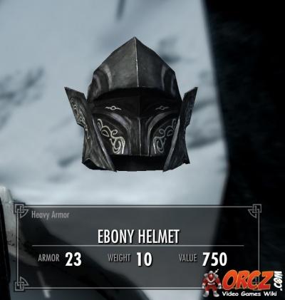 Skyrim ebony helmet