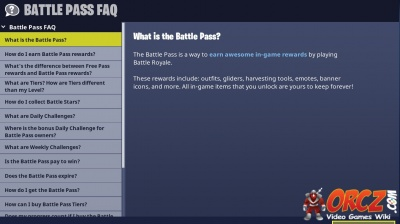 contents - fortnite battle pass items