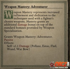 Weapon Mastery Adventurer