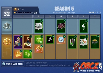 Fortnite Battle Royale Season 5 Battle Pass Rewards Orcz Com The
