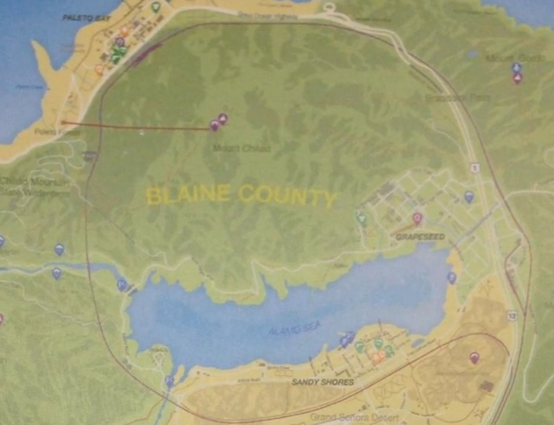 GTA V Blaine County Map Orczcom The Video Games Wiki