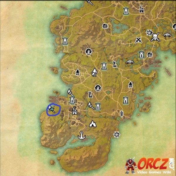 ESO: Glenumbra Skyshard Map   Bad Man's Hallows   Orcz.com, The