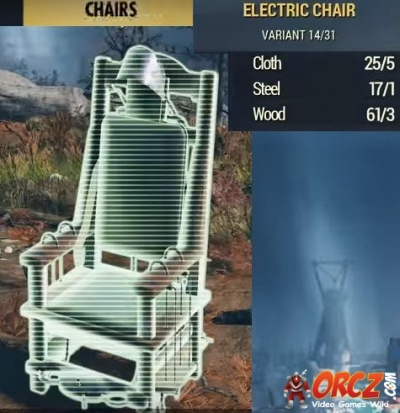 Fallout 76 Electric Chair Orcz Com The Video Games Wiki