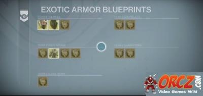 Destiny exotic armor blueprints orcz the video games wiki exotic armor blueprints malvernweather Image collections