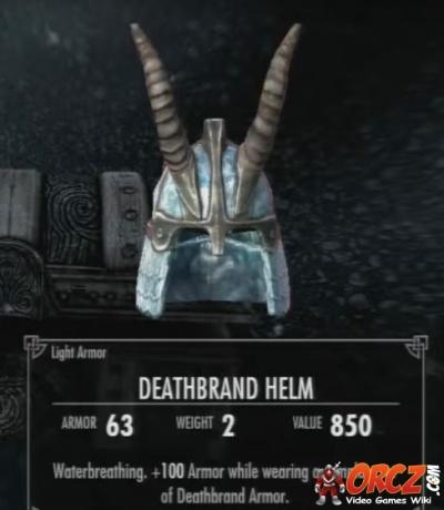 Skyrim Dragonborn Deathbrand Helm Orczcom The Video Games Wiki