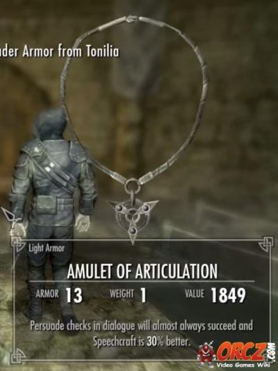skyrim  amulet of articulation