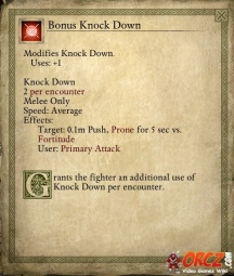 Bonus Knock Down