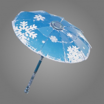 the snowflake umbrella is one of the umbrella skins in fortnite br - fortnite the umbrella season