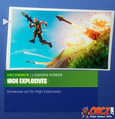 Fortnite Battle Royale Loading Screen High Explosives Orcz Com