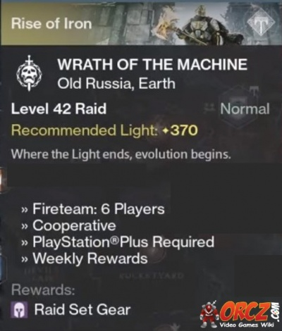destiny wrath of the machine quest