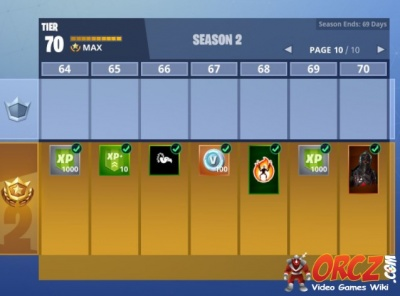 fortnite battle royale battle pass rewards season 2 orcz com the video games wiki - battle royale rewards fortnite