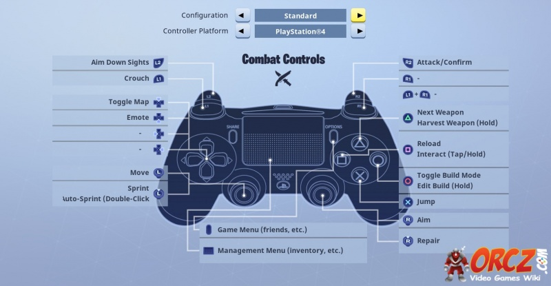 Fortnite Battle Royale: PS4 Controller Layout - Orcz com