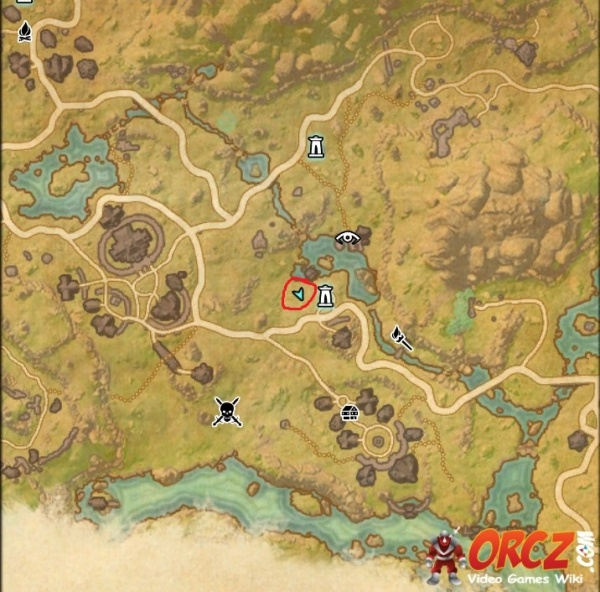 ESO: Deshaan Treasure Map I - Orcz.com, The Video Games Wiki on the rift ce treasure map, khenarthi's roost treasure map, stormhaven ce treasure map, bleakrock treasure map, auridon treasure map,