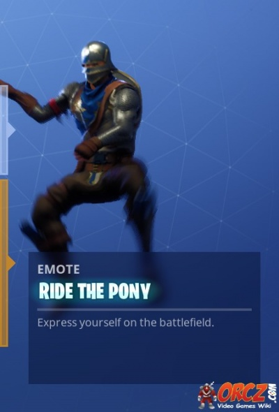 Fortnite Battle Royale Ride The Pony Orcz Com The