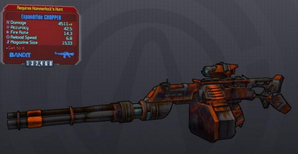 Borderlands 2: Hammerlocks DLC Unique and Seraph Weapons