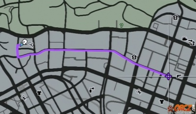 gta v directions from michael 39 s house to vinewood plaza the video games wiki. Black Bedroom Furniture Sets. Home Design Ideas